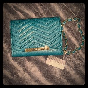 Teal/Blue Guess Wallet - Wristlet